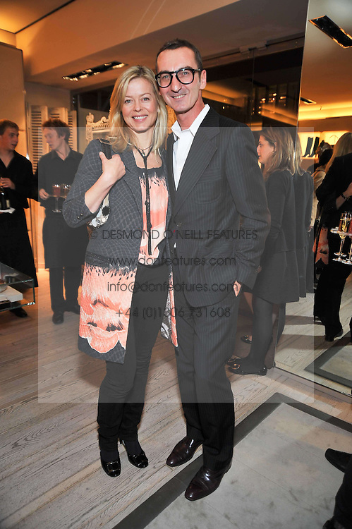 LADY HELEN TAYLOR and BRUNO FRISONI at a party to celebrate the arrival of the 'A Princess to be a Queen' collection at the Roger Vivier boutique on Sloane Street, London on 20th October 2009.