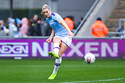 Manchester City Women defender Gemma Bonner (4) passes the ball during the FA Women's Super League match between Manchester City Women and West Ham United Women at the Sport City Academy Stadium, Manchester, United Kingdom on 17 November 2019.