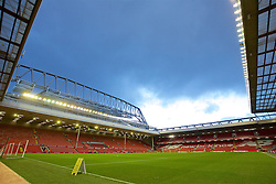 LIVERPOOL, ENGLAND - Saturday, January 30, 2016: A general view of Liverpool's Anfield Stadium before the FA Cup 4th Round match against West Ham United at Anfield. (Pic by David Rawcliffe/Propaganda)