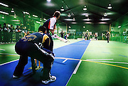 England (batting) vs Sri Lanka in the Indoor Cricket Masters World Cup.<br /> Christchurch, New Zealand