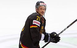 John Tripp of Germany after the ice-hockey match between Slovakia and Germany of Group A of IIHF 2011 World Championship Slovakia, on May 1, 2011 in Orange Arena, Bratislava, Slovakia. Germany defeated Slovakia 4-3. (Photo By Vid Ponikvar / Sportida.com)