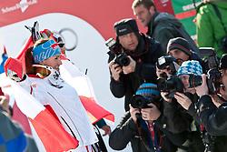 13.02.2011, Kandahar, Garmisch Partenkirchen, GER, FIS Alpin Ski WM 2011, GAP, Damen Abfahrt, im Bild Goldmedaillen Gewinnerin und Weltmeisterin Elisabeth Goergl (AUT) stehet vor Fotografen // World Champion and Gold Medal Winner Elisabeth Goergl (AUT) staying in Front of Photographers during womens Downhill, Fis Alpine Ski World Championships in Garmisch Partenkirchen, Germany on 13/2/2011, 2011, EXPA Pictures © 2011, PhotoCredit: EXPA/ J. Feichter