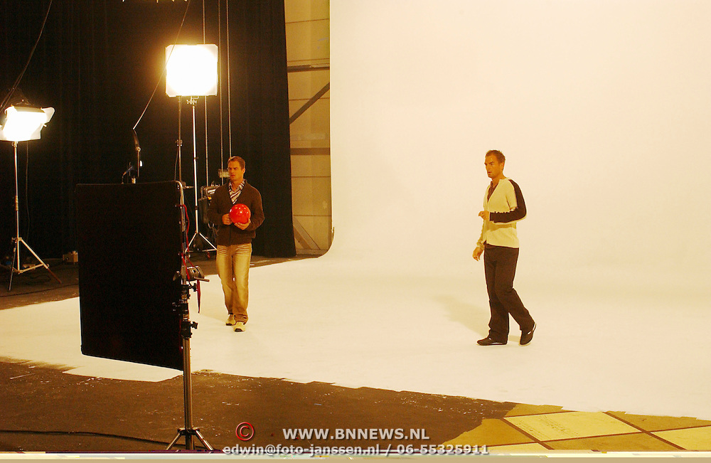 Opname commercial C&A / cliniclowns, Frank en Ronald de Boer
