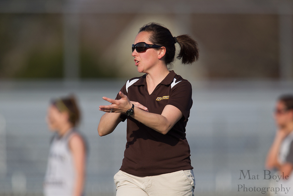 Rowan University Head Coach Lindsay Delaney - Drew University Women's Lacrosse at Rowan University at Richard Wacker Stadium  in Glassboro, NJ on Tuesday April 9, 2013. (photo / Mat Boyle)