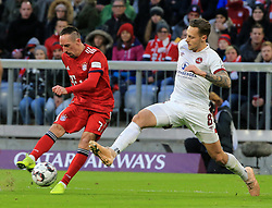 08.12.2018, 1.BL, FCB vs 1.FC Nuernberg, Allianz Arena Muenchen, Fussball, Sport, im Bild:..Franck Ribery (FCB), vs Robert Bauer ( 1.FC Nuernberg )..DFL REGULATIONS PROHIBIT ANY USE OF PHOTOGRAPHS AS IMAGE SEQUENCES AND / OR QUASI VIDEO...Copyright: Philippe Ruiz..Tel: 089 745 82 22.Handy: 0177 29 39 408.e-Mail: philippe_ruiz@gmx.de. (Credit Image: © Philippe Ruiz/Xinhua via ZUMA Wire)
