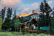 Cathedral Mountain Lodge in Yoho National Park, British Columbia, Canada. Yoho is one of several Canadian Rocky Mountains parks which comprise a spectacular World Heritage Area listed by UNESCO in 1984.