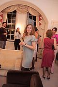 MARGERITA LAERA, Valeria Napoleone hosts a dinner at her apartment e to celebrate the publication of her book  Valeria Napoleone's Catalogue of Exquisite Recipes. Palace Green. Kensington. London. 28 September 2012.