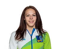 Tjasa Kysselef at official photoshoot of Slovenian Gymnastics team prior to 2018 Koper Challenge Cup, on May 14, 2018 in Gimnasticna dvorana, Ljubljana, Slovenia. Photo by Matic Klansek Velej / Sportida
