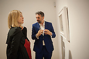 ROSAMUND PIKE; KEITH TYSON, Panta Rhei. An exhibition of work by Keith Tyson. The Pace Gallery. Burlington Gdns. 6 February 2013.