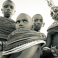 Samburu women watching warriors dance