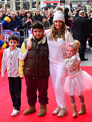 (L to R) Junior Andre, Harvey Price, Katie Price and Princess Andre  attends The Lego Movie VIP film screening of CGI adventure, starring some of Lego's most popular figures, which features the voices of Elizabeth Banks, Chris Pratt, Will Arnett and Morgan Freeman, at Vue West End, London, United Kingdom. Sunday, 9th February 2014. Picture by Nils Jorgensen / i-Images<br /> File Photo - Katie Price is to divorce husband Kieran Hayler after claiming he has been having an affair with her best friend. Photo filed Wednesday 7th May 2014.