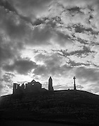 View - Rock of Cashel Silhouette - Co. Tipperary.30/03/1957