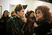 PALOMA FAITH; HELENA BONHAM-CARTER;  , Lulu Guinness And Rob Ryan Fan Bag - Launch Party. Air Gallery. London. 10 November 2010.  -DO NOT ARCHIVE-© Copyright Photograph by Dafydd Jones. 248 Clapham Rd. London SW9 0PZ. Tel 0207 820 0771. www.dafjones.com.