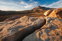 Crack leading to south face of El Capitan peak, at 8,085 feet in Guadalupe Mountains National Park, Texas, USA.