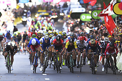 July 2, 2017 - Liege, Belgique - LIEGE, BELGIUM - JULY 2 : CAVENDISH Mark (GBR) Rider of Team Dimension Data, DEMARE Arnaud (FRA) Rider of FDJ, KITTEL Marcel (GER) Rider of Quick-Step Floors Cycling team, GREIPEL Andre (GER) Rider of Team Lotto - Soudal, SAGAN Peter (SVK) Rider of Team Bora - Hansgrohe, GROENEWEGEN Dylan (NED) Rider of Team Lotto NL - Jumbo Cycling team during stage 2 of the 104th edition of the 2017 Tour de France cycling race, a  stage of 203 kms between Dusseldorf and Liege on July 02, 2017 in Liege, Belgium, 2/07/2017 (Credit Image: © Panoramic via ZUMA Press)