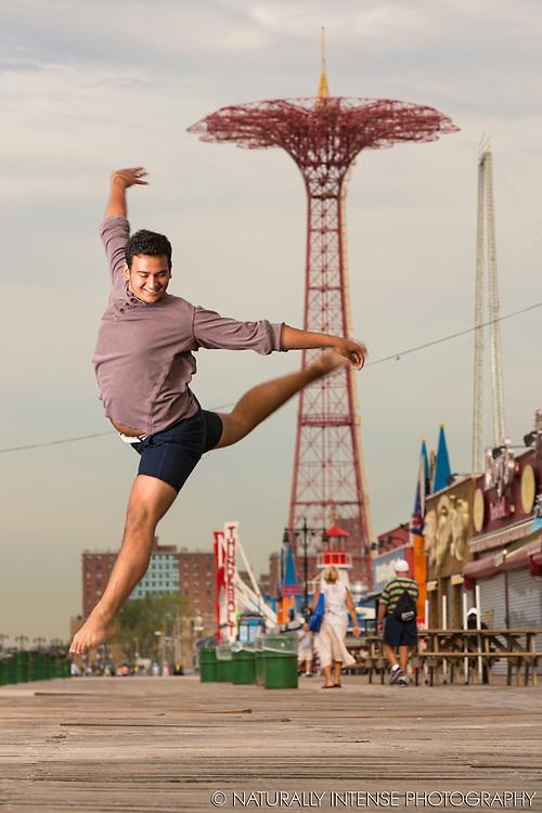 Javier Padilla- Coney Island Boardwalk. Dance As Art- The New York Photography Project