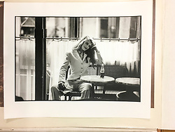 Claudia Schiffer photographed in Paris circa 1990 for DH campaign. 16.5 x 20 inches fibre based baryta paper. Original print production proof.