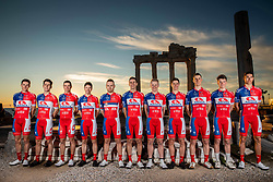 Team photo at photo session of KK Adria Mobil before new cycling season, on January 17, 2019 in Side, Turkey. Photo by Vid Ponikvar / Sportida