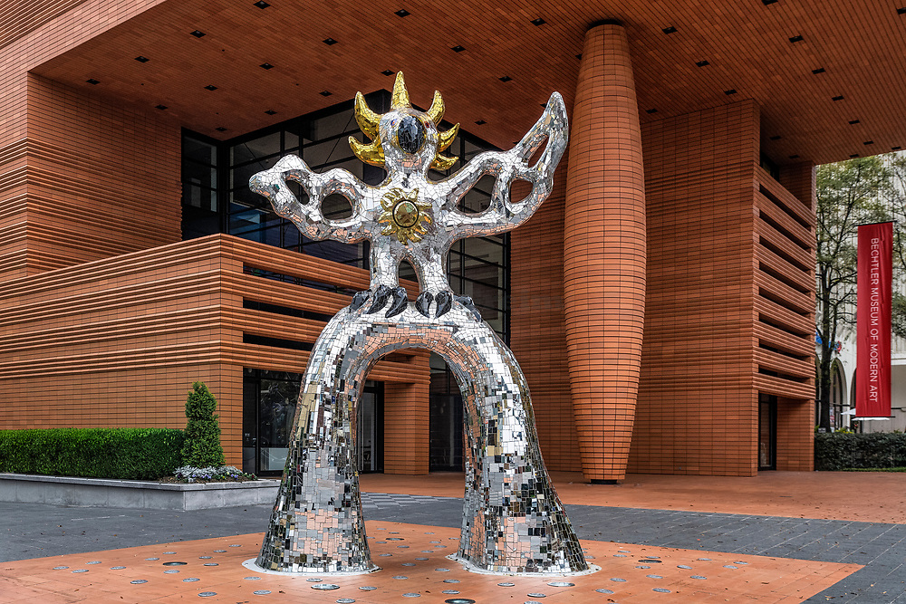 Firebird sculpture at the Bechtler Museum of Modern Art, Charlotte, North Carolina, USA.