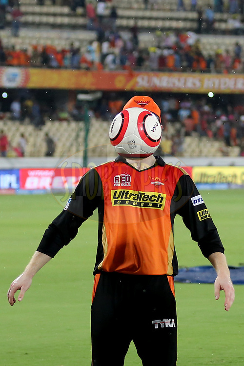 Sunrisers Hyderabad player Eoin Morgan during match 22 of the Vivo IPL 2016 (Indian Premier League ) between the Sunrisers Hyderabad and the Rising Pune Supergiants held at the Rajiv Gandhi Intl. Cricket Stadium, Hyderabad on the 26th April 2016<br /> <br /> Photo by Faheem Hussain / IPL/ SPORTZPICS