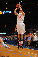 Ohio State guard Jon Diebler #33 shoots a jump shot against the North Carolina Tarheels during the 2K Sports Classic at Madison Square Garden. (Mandatory Credit: Delane B. Rouse/Delane Rouse Photography)