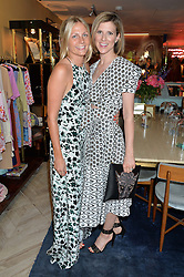 Left to right, MADDIE  CHESTERTON and ELIZABETH PELLY at the launch of AYA jewellery by Chelsy Davy held at Baar & Bass, 336 Kings Road, London on 21st June 2016.
