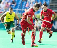ANTWERP -   Sébastien Dockier of Belgium  during the final Australia vs Belgium (1-0). WSP COPYRIGHT KOEN SUYK