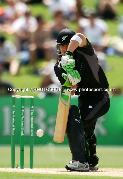 Brendon McCullum plays a shot. New Zealand v Bangladesh, 2nd ODI, McLean Park, Napier, New Zealand. Friday 28 December 2007. Photo: John Cowpland/PHOTOSPORT