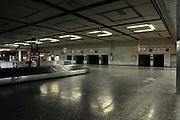 Israel, Ben-Gurion international Airport Cargo transport and baggage loading area Luggage conveyor belt
