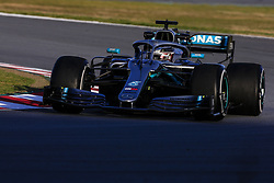 February 18, 2019 - Barcelona, Barcelona, Spain - Lewis Hamilton of Great Britain with 44 Mercedes AMG Petronas Motorsport W10 in action during the Formula 1 2019 Pre-Season Tests at Circuit de Barcelona - Catalunya in Montmelo, Spain on February 18. (Credit Image: © Xavier Bonilla/NurPhoto via ZUMA Press)