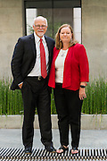 University of Arkansas Chancellor Steinmetz with his wife Sandy on the University of Arkansas campus on June 15, 2016 in Fayetteville Arkansas.<br /> Shot for Celebrate Magazine.<br /> <br /> ©Wesley Hitt 2016