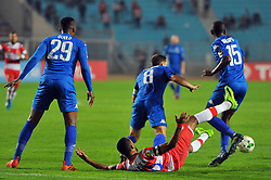 October 22, 2017 - Rades, Tunisia - Saber Khalifa (C)of CA  in action during the Semi-final return of the CAF Cup between Club Africain (CA) and Supersport United FC of South Africa at the stadium of Rades  in Tunis..Club Africain lost (1-3) against the South African Super Sport Utd who will face TP Mazembe in the final. (Credit Image: © Chokri Mahjoub via ZUMA Wire)