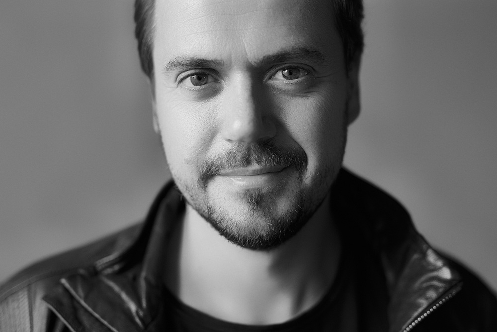 Portrait of popular slovenian musician, singer and song writer Andraž Hribar.
