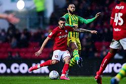 Nahki Wells of Bristol City has a shot on goal - Mandatory by-line: Ryan Hiscott/JMP - 22/02/2020 - FOOTBALL - Ashton Gate - Bristol, England - Bristol City v West Bromwich Albion - Sky Bet Championship