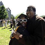 Atlanta Mayor Kasim Reed and former U.S. Ambassador Andrew Young participate in graduation exercises at Oglethorpe University in Atlanta on Saturday, May 7, 2011.  (David Tulis/dtulis@gmail.com)
