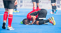 LUCKNOW (India) -   Junior World Cup hockey  U21 for men . EGYPT v CANADA  for the 15th/16th place.  Egypt players celebrate they win  on their own way.  COPYRIGHT  KOEN SUYK
