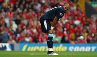 Photo: Paul Thomas.<br /> Liverpool v West Ham United. The Barclays Premiership. 26/08/2006.<br /> <br /> Goal scorer Bobby Zamora of West Ham.