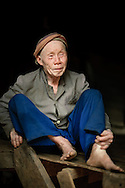 Thailand, Mae Sariang. Portrait of elderly Pwo Karen man from a small village situated in Mae Sariang area, near the Burmese border.