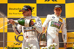 03.08.2014, Red Bull Ring, Spielberg, AUT, DTM Red Bull Ring, Renntag, im Bild Marco Wittman, (GER, 1. Platz, Rennen, Ice-Watch BMW M4 DTM), Augusto Farfus, (BRA, 2. Platz, Rennen, Castrol EDGE BMW M4 DTM) // during the DTM Championships 2014 at the Red Bull Ring in Spielberg, Austria, 2014/08/03, EXPA Pictures © 2014, PhotoCredit: EXPA/ M.Kuhnke