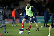 Tom Hopper of Lincoln City warming up during the EFL Sky Bet League 1 match between Lincoln City and Portsmouth at Sincil Bank, Lincoln, United Kingdom on 28 January 2020.