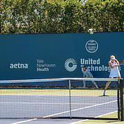 August 22, 2016, New Haven, Connecticut: <br /> Elena Vesnina of Russia in action during a match on Day 4 of the 2016 Connecticut Open at the Yale University Tennis Center on Monday August  22, 2016 in New Haven, Connecticut. <br /> (Photo by Billie Weiss/Connecticut Open)