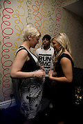 JO O'MEARA, BRADLEY MCINTOSH FROM S CLUB 7 AND SUZANNE SHAW. Bingo Lotto launch party. Soho Hotel Richmond Mews. London. 29 February 2008.  *** Local Caption *** -DO NOT ARCHIVE-© Copyright Photograph by Dafydd Jones. 248 Clapham Rd. London SW9 0PZ. Tel 0207 820 0771. www.dafjones.com.
