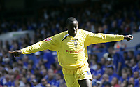 Patrick Agyemang celebrates after scoring.<br />