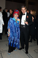 Designer ZANDRA RHODES and STUART ROSE at the 2005 British Fashion Awards were held at The V&A museum, London on 10th November 2005.<br />