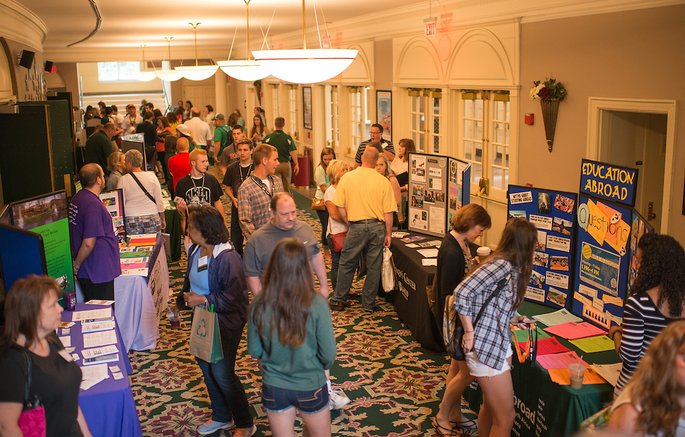 Involvement Resource Fair in the lobby of Templeton Blackburn Memorial Auditorium during Bobcat Student Orientation. Photo by Ben Siegel/ Ohio University