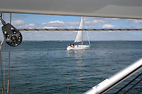 Sailing in Dun Laoghaire in Dublin Ireland