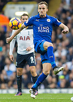 Football - 2016 / 2017 Premier League - Tottenham Hotspur vs. Leicester City<br /> <br /> Andy King of Leicester City at White Hart Lane.<br /> <br /> COLORSPORT/DANIEL BEARHAM