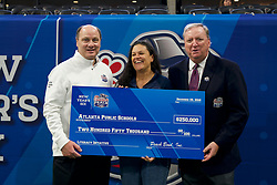 Check Presentations during the Chick-fil-A Peach Bowl, Saturday, December 29, 2018, in Atlanta. ( Paul Abell via Abell Images for Chick-fil-A Peach Bowl)