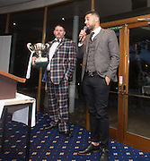 Kane Hemmign talks to the fans after being named Dundee FC Player of the year 2016-17  - DSA Dundee FC player of the year dinner<br /> <br />  - &copy; David Young - www.davidyoungphoto.co.uk - email: davidyoungphoto@gmail.com