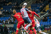 Daryl Murphy of Bolton Wanderers during the EFL Sky Bet League 1 match between Bolton Wanderers and Milton Keynes Dons at the University of  Bolton Stadium, Bolton, England on 16 November 2019.